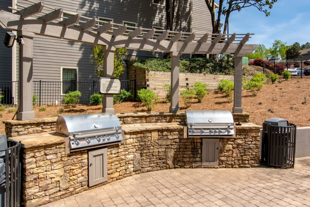 Outdoor BBQ Area at The Residences at Vinings Mountain in Atlanta, Georgia