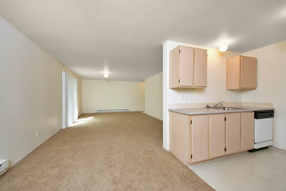 Living Room & Kitchen at Marketplace Apartments in Vancouver, Washington
