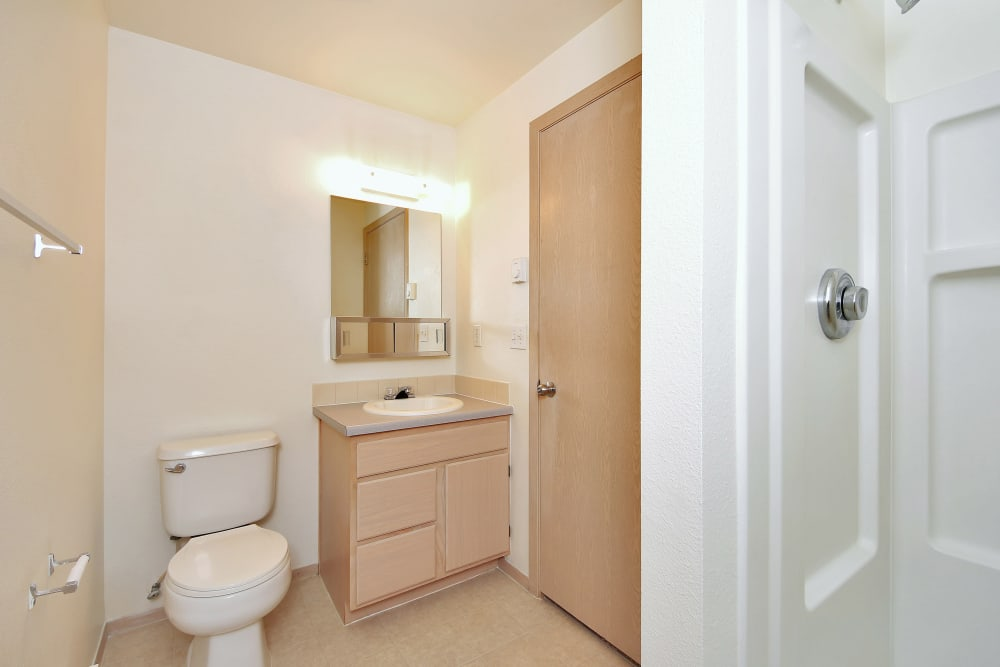 Bathroom at Marketplace Apartments in Vancouver, Washington