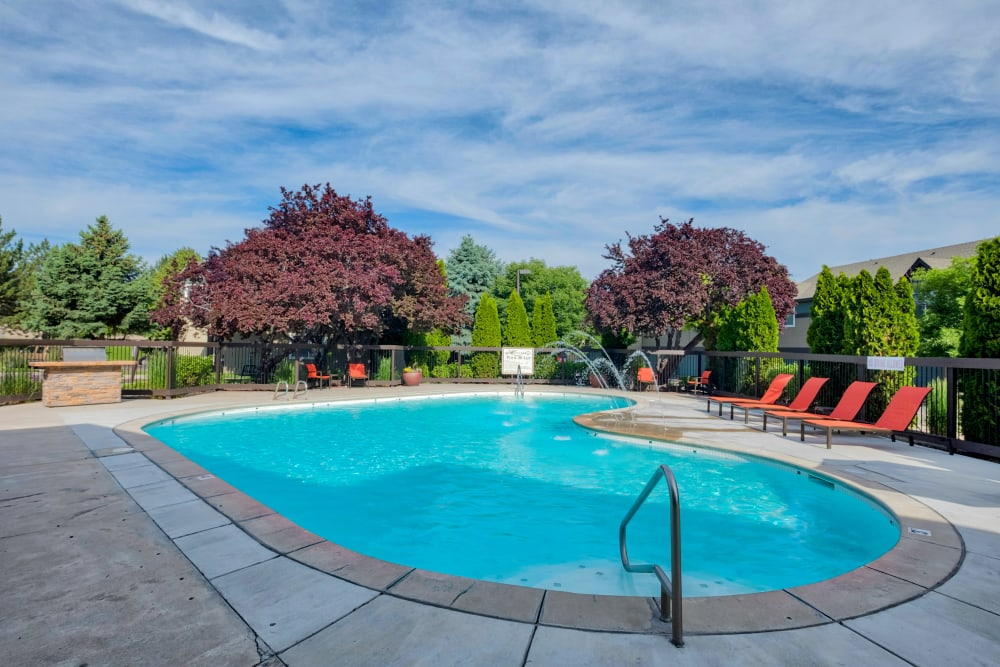 Swimming Pool at Monterra Townhomes in Boise, Idaho