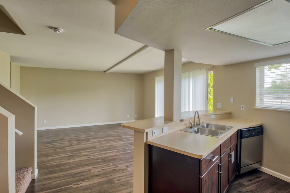 Living Room at Monterra Townhomes in Boise, Idaho