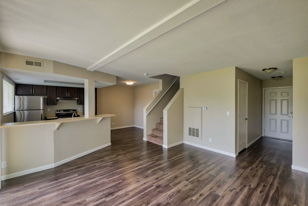 Living Room & Kitchen at Monterra Townhomes in Boise, ID