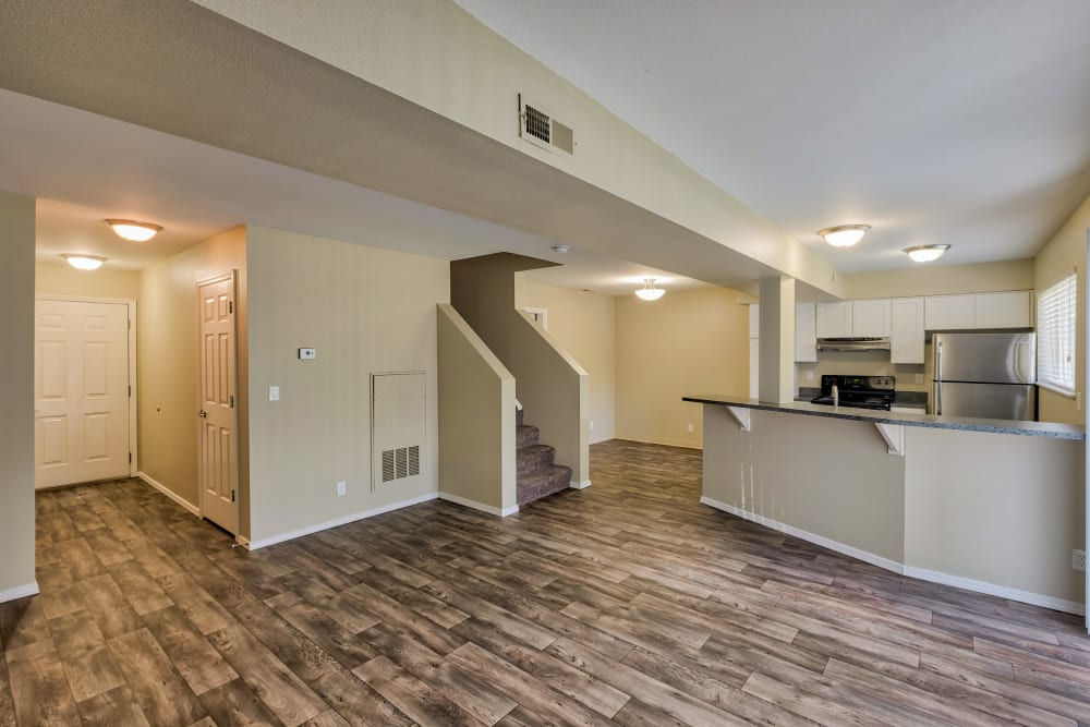 Living Room & Kitchen at Monterra Townhomes in Boise, Idaho