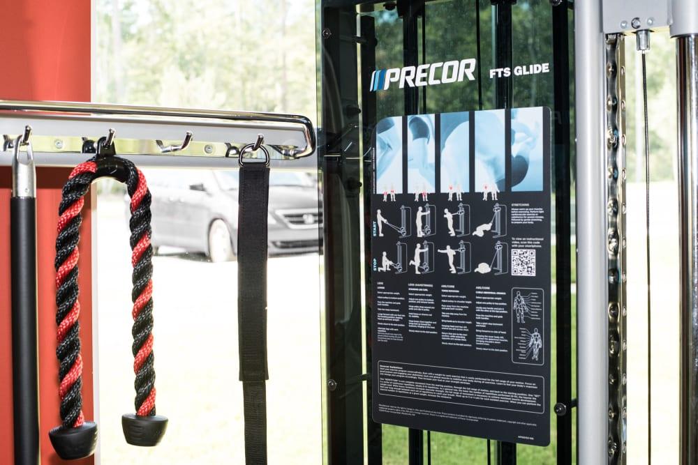 More exercise equipment at Lodge at Croasdaile Farm in Durham, North Carolina
