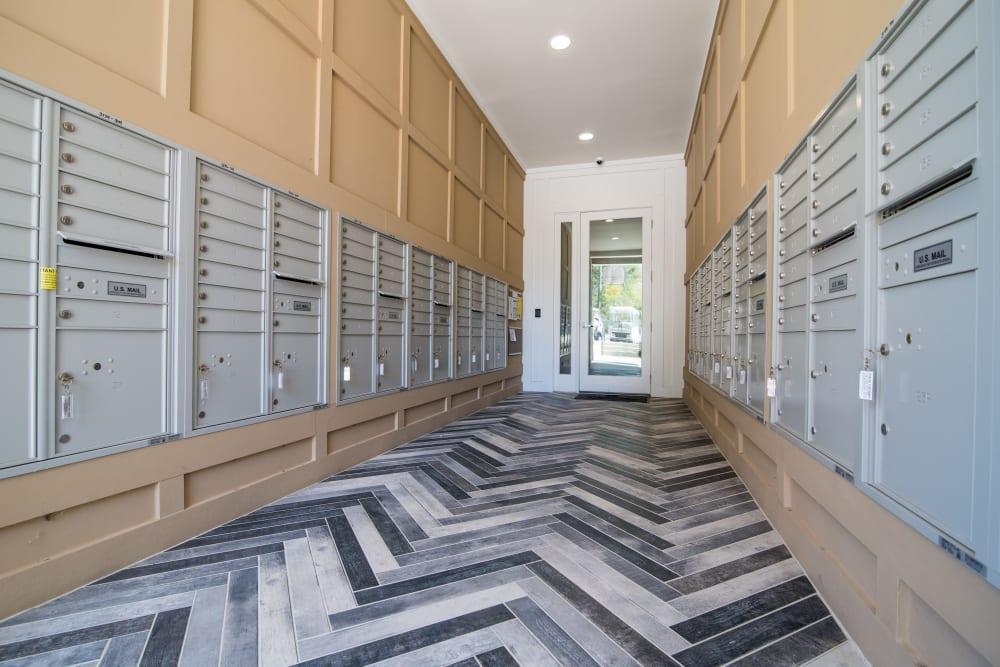 Mail room at Lodge at Croasdaile Farm in Durham, North Carolina