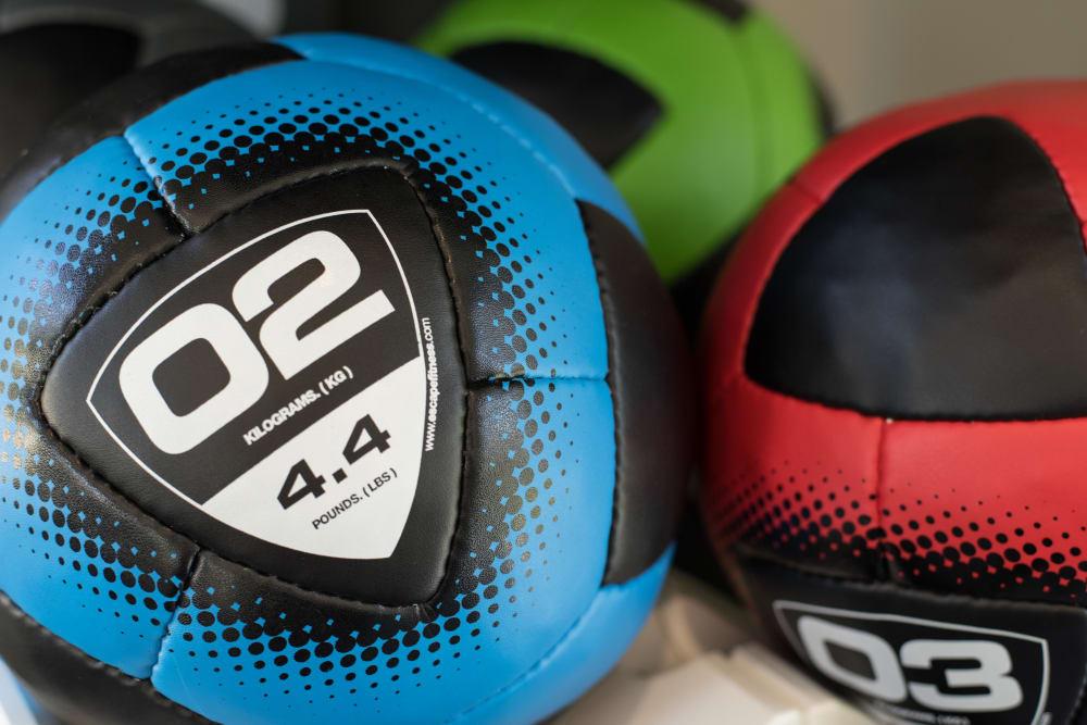 Exercise balls at Lodge at Croasdaile Farm in Durham, North Carolina