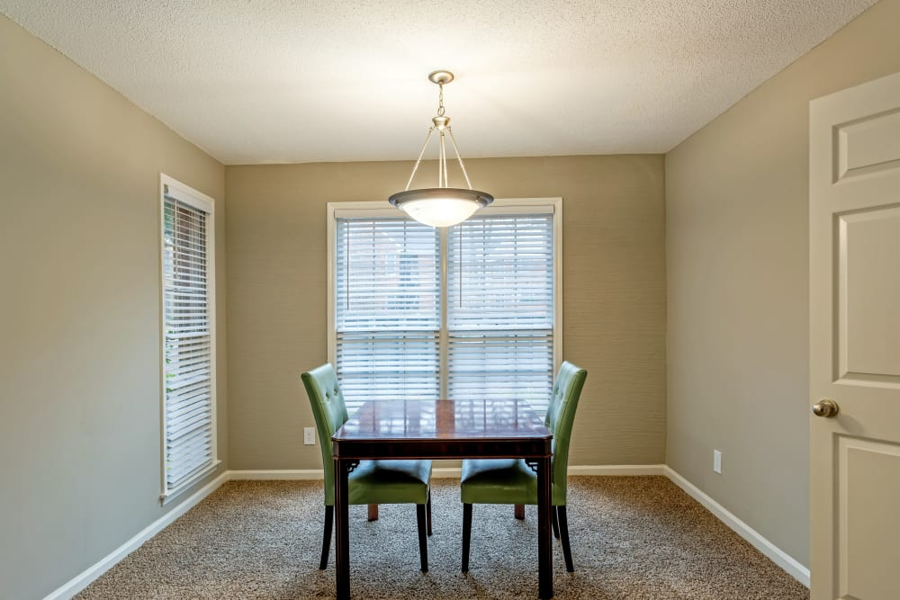 An office space in a model apartment at The Gatsby at Midtown in Montgomery, Alabama