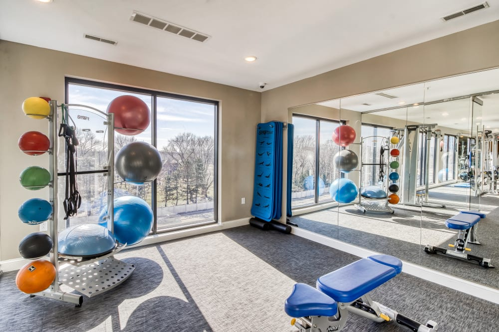 Enjoy Apartments with a Gym at Tribeca STL in St. Louis, Missouri