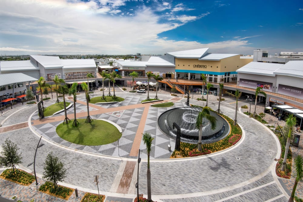 Shopping center at The Flats in Doral, Florida