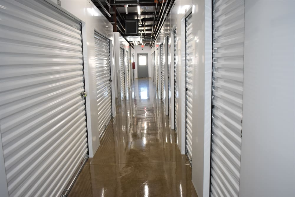 Hallway access to interior units at Storage 365 in Garland, Texas