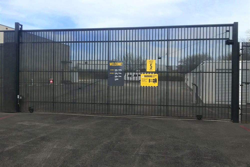 The gated facility at Storage 365 in Irving, Texas