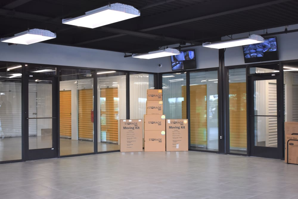 Inside of the front office at Storage 365 in Irving, Texas