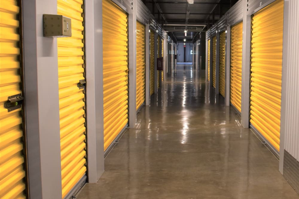 The indoor storage units at Storage 365 in Irving, Texas