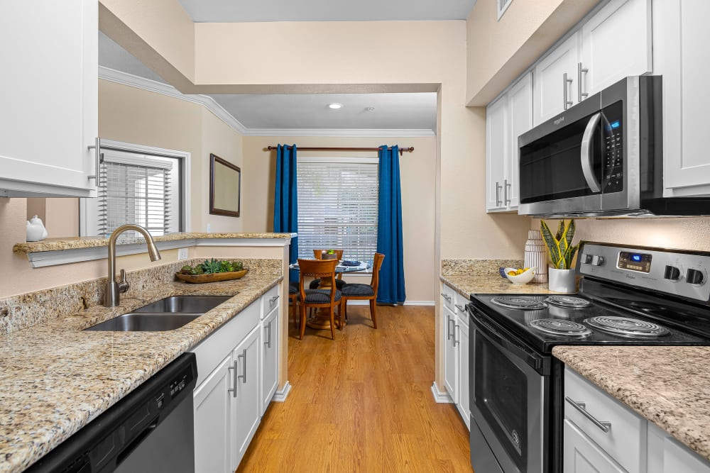 Kitchen at Apartments in San Antonio, Texas