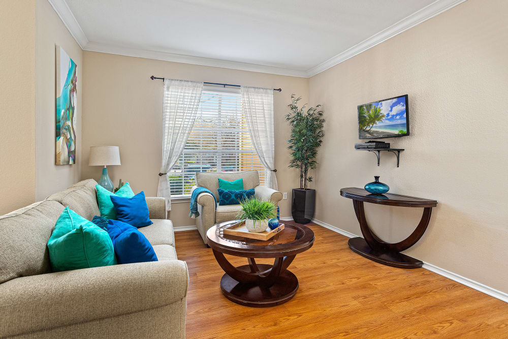Beautiful Living Room at The Lodge at Shavano Park in San Antonio, Texas
