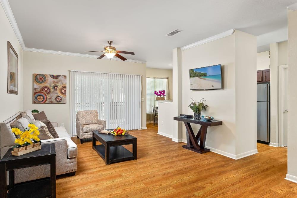 Spacious Living Room at Sedona Ranch Apartments in San Antonio, Texas