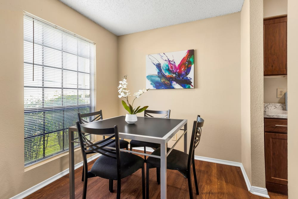 Dining Room at Stoneybrook Apartments & Townhomes in San Antonio, Texas