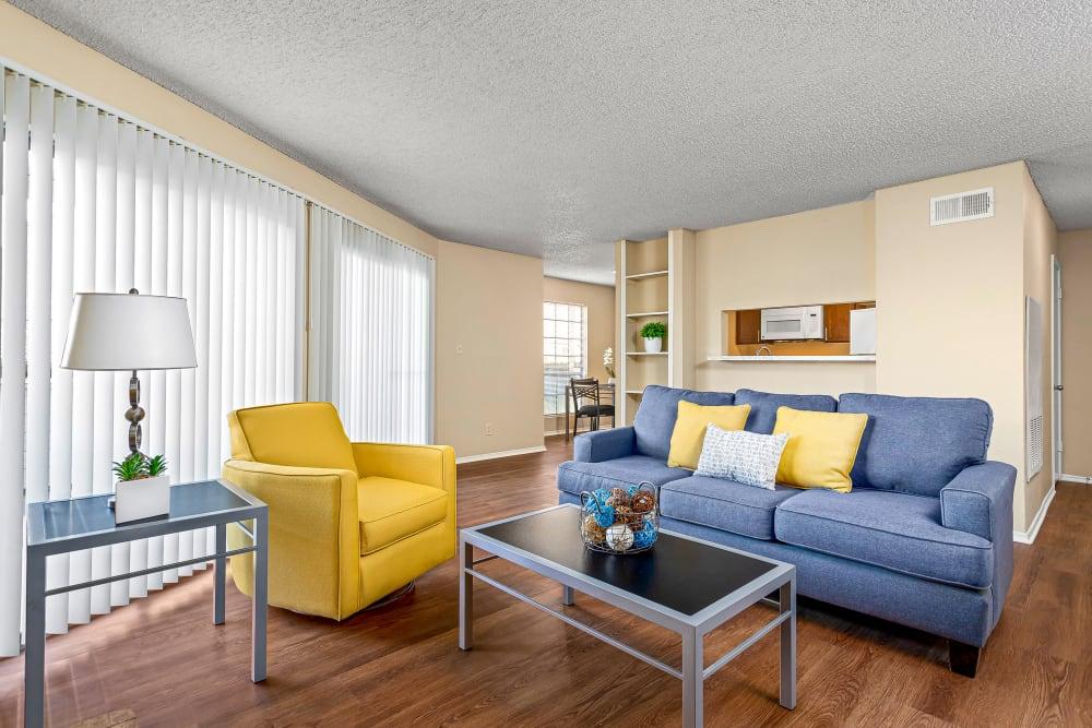 Living Room at Stoneybrook Apartments & Townhomes in San Antonio, Texas