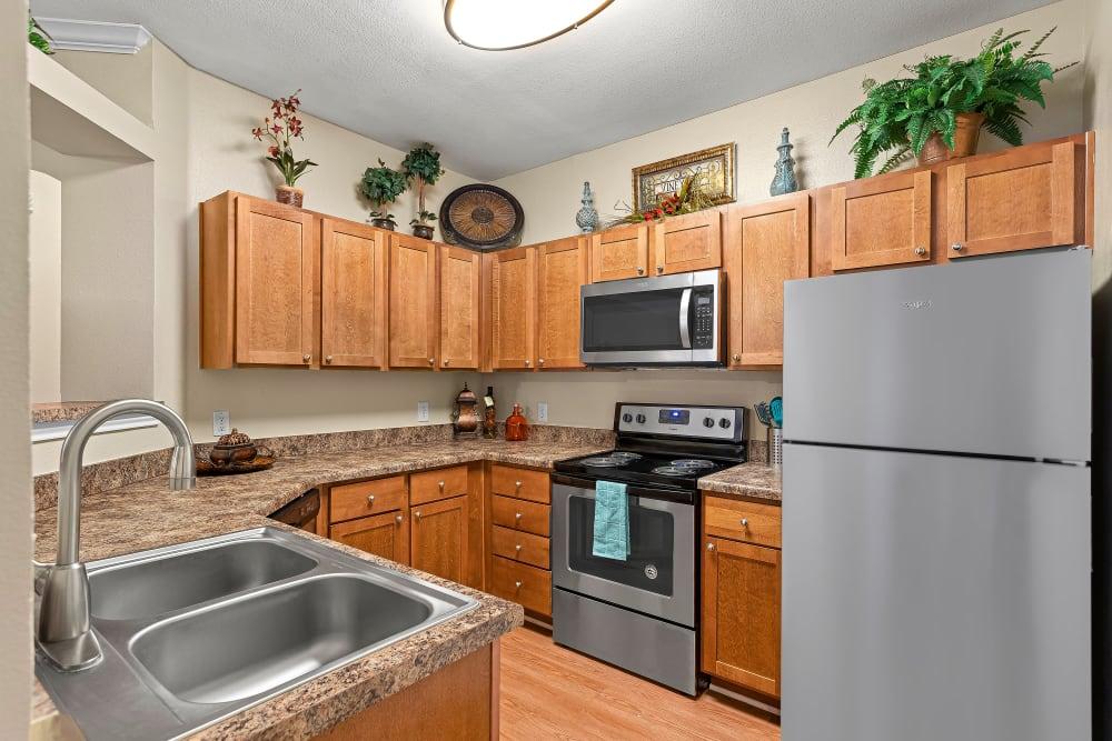 Kitchen at Villas at Medical Center in San Antonio, Texas