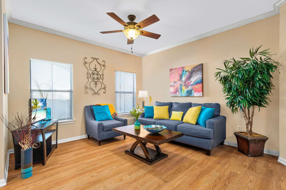 Spacious Living Room at Villas at Medical Center in San Antonio, Texas