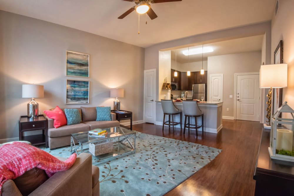 Large living room at Artistry at Craig Ranch in McKinney, Texas