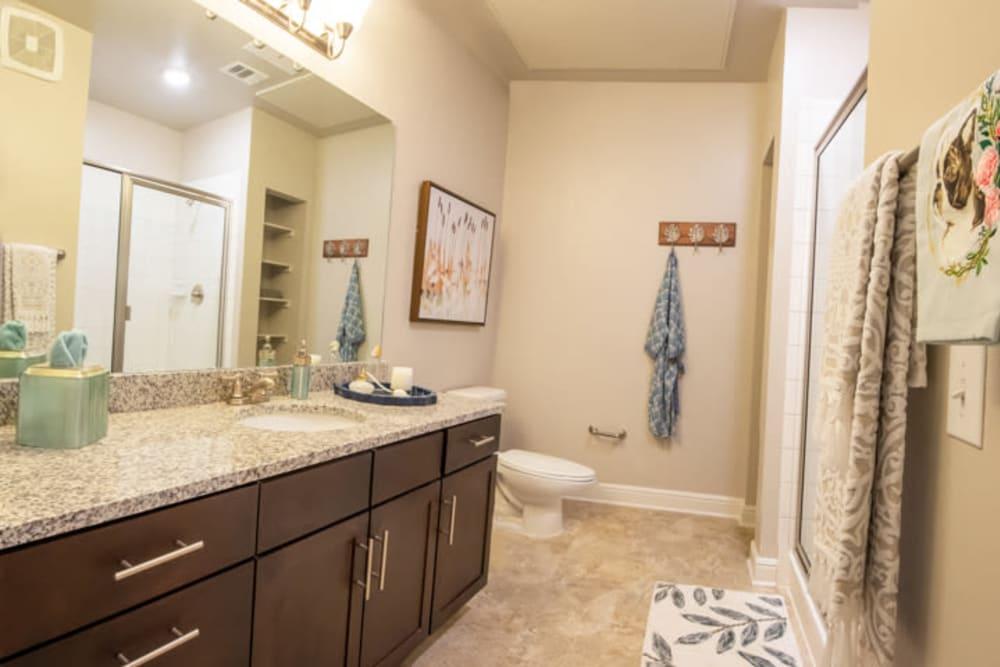 Master bathroom at Artistry at Craig Ranch in McKinney, Texas
