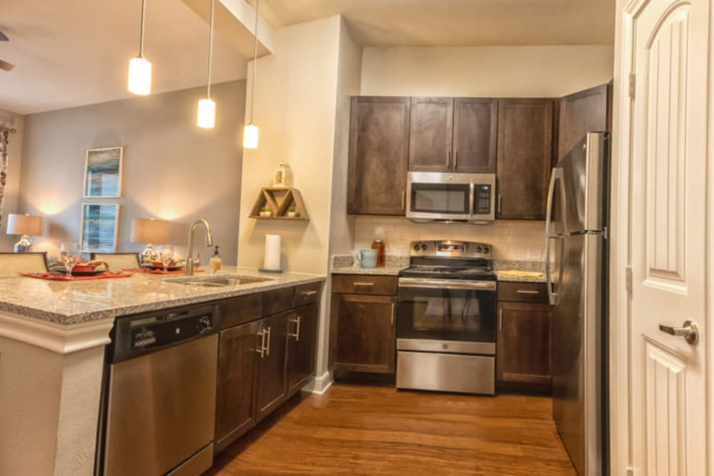 Modern kitchen appliances at Artistry at Craig Ranch in McKinney, Texas