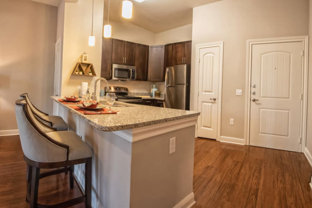 Apartment entrance at Artistry at Craig Ranch in McKinney, Texas