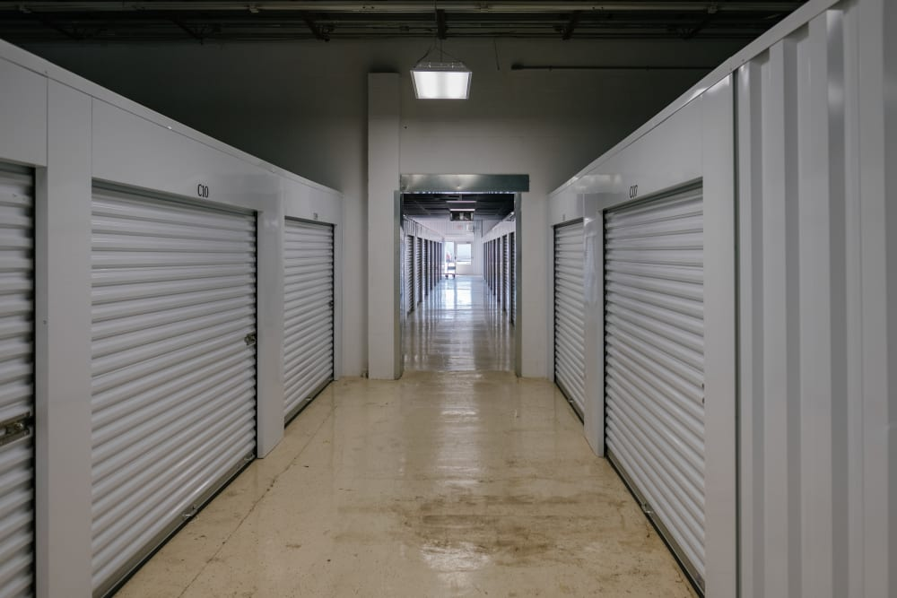 Interior climate-controlled self storage units at StayLock Storage in Benton Harbor, Michigan