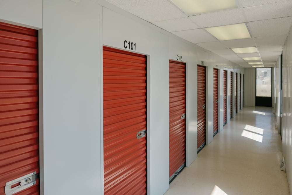 Indoor self storage units at StayLock Storage in Coloma, Michigan