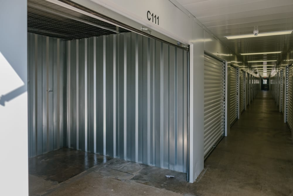 Roll-up doors on self storage units at StayLock Storage in Coloma, Michigan