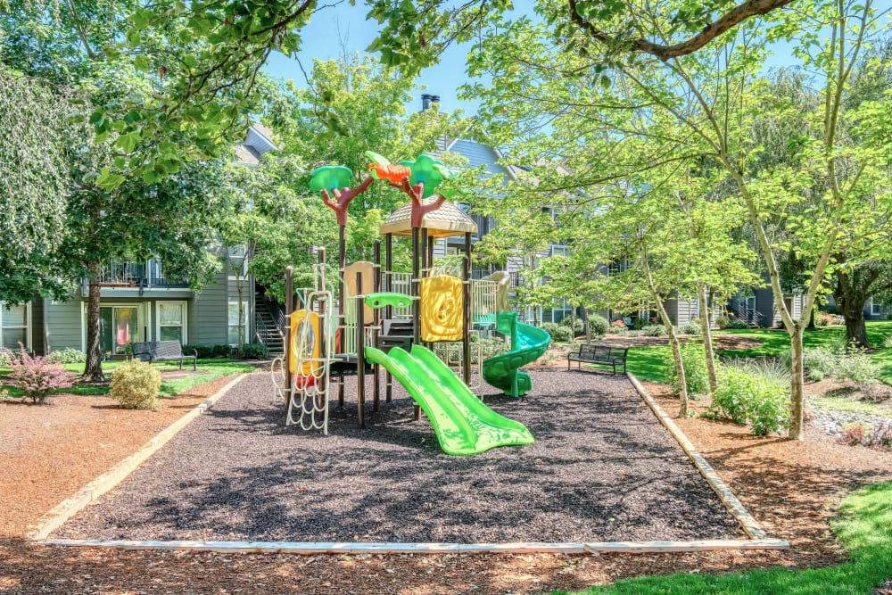 Onsite children's playground at Centro Apartment Homes in Hillsboro, Oregon