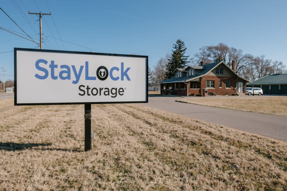 View of entrance to our storage units at StayLock Storage in Saint Joseph, Michigan