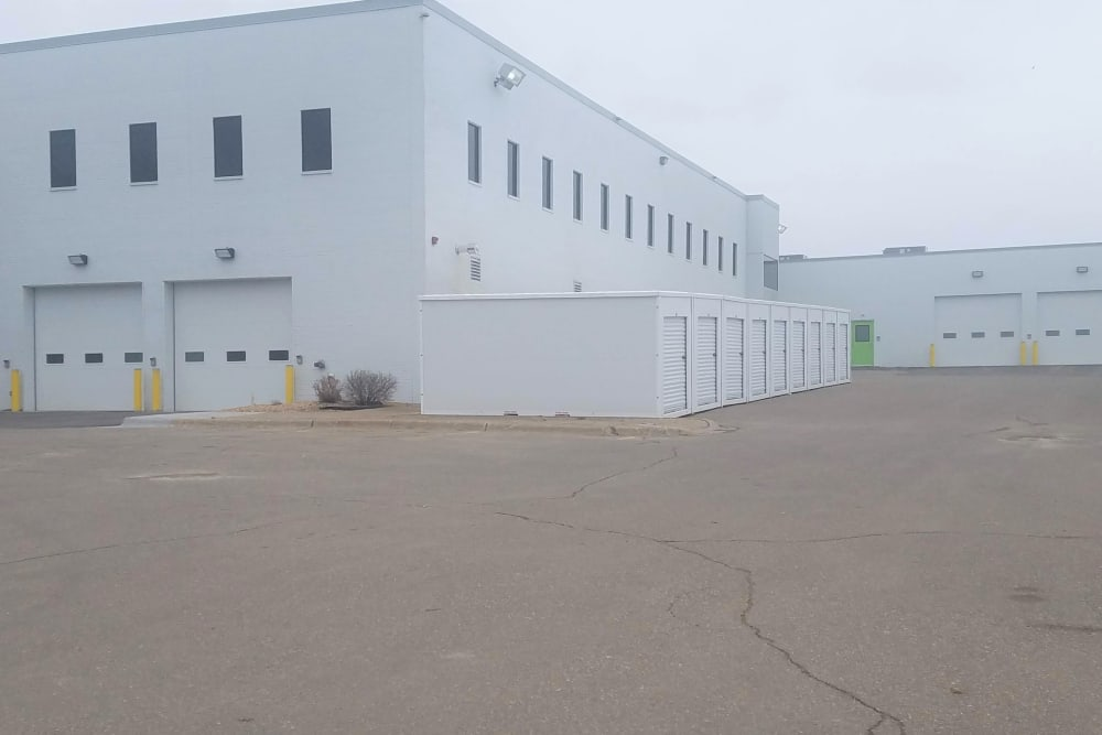A view of the exterior and the loading docks at Storage 365 in Golden Valley, Minnesota