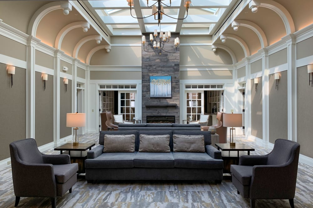 large open foyer with comfortable seating