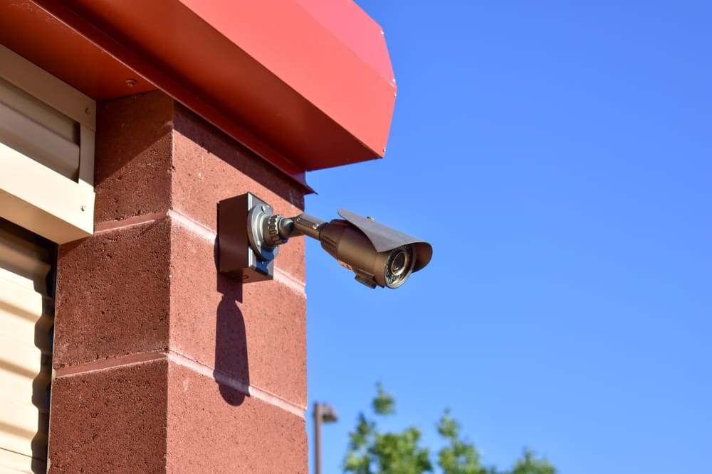 A video surveillance camera at STOR-N-LOCK Self Storage in Hurricane, Utah