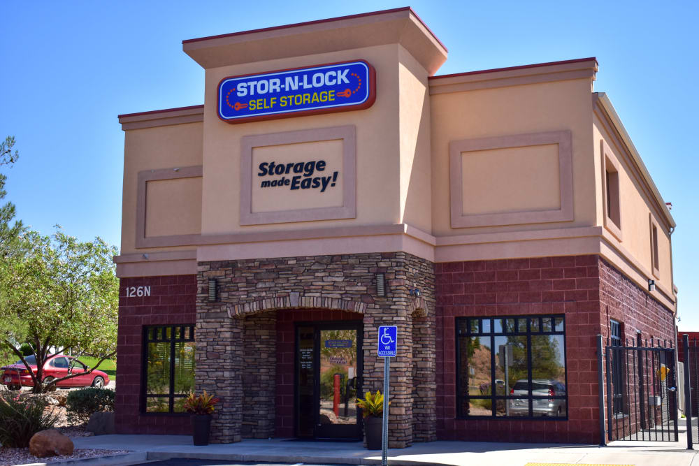 The front door at STOR-N-LOCK Self Storage in Hurricane, Utah