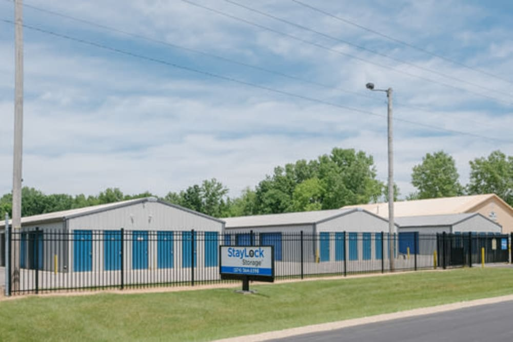 Exterior view of our storage units at StayLock Storage in Bristol, Indiana
