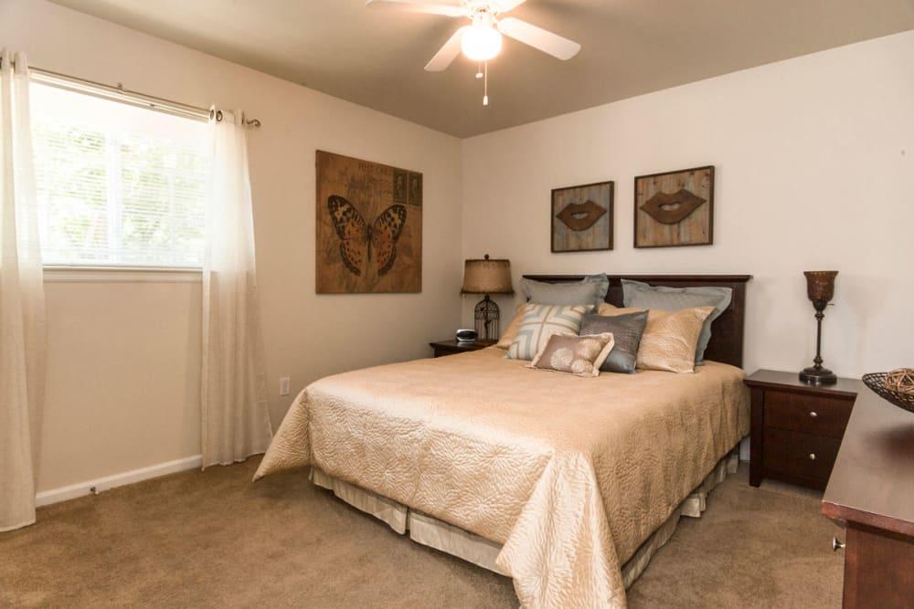Master bedroom at Salem Wood Apartments in Salem, Virginia