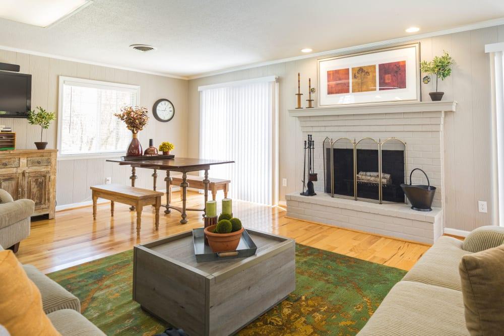 Living room view of Salem Wood Apartments in Salem, Virginia