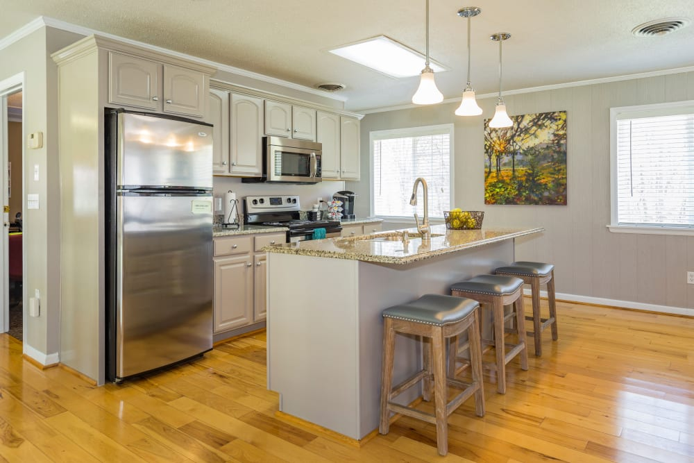 Large and spacious kitchen at Salem Wood Apartments in Salem, Virginia