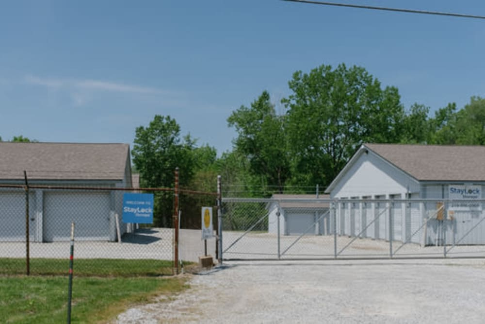 Entrance to our storage units at StayLock Storage in Hebron, Indiana