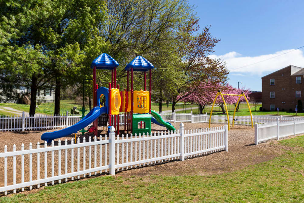 Outdoor playground at The Crest Apartments in Salem, Virginia