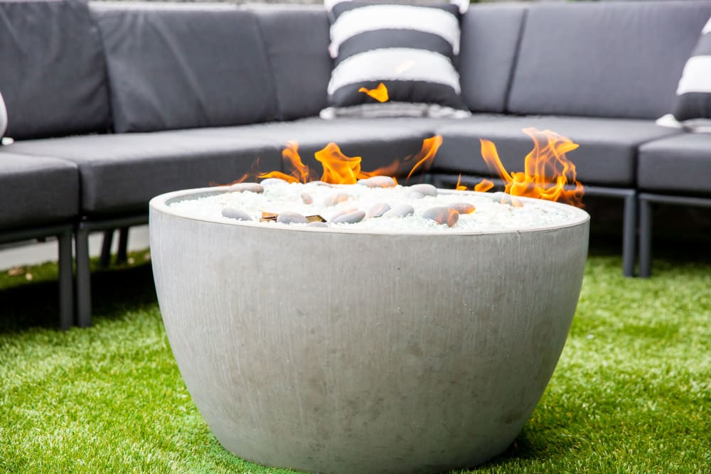 An outdoor fire pit at Belcourt Park in Nashville, Tennessee