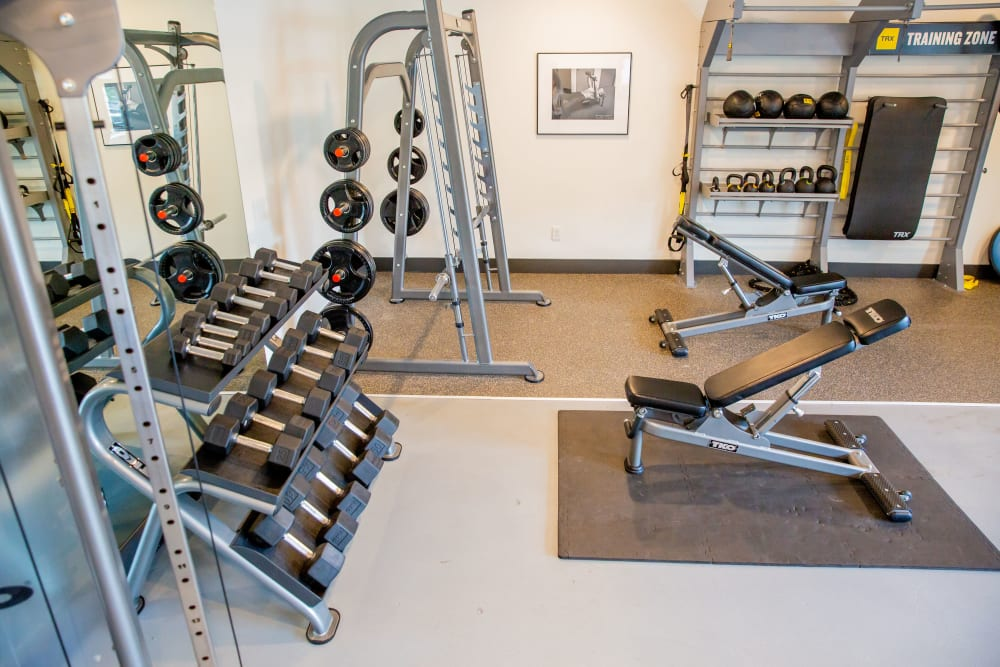 The gyn with free weights at Belcourt Park in Nashville, Tennessee