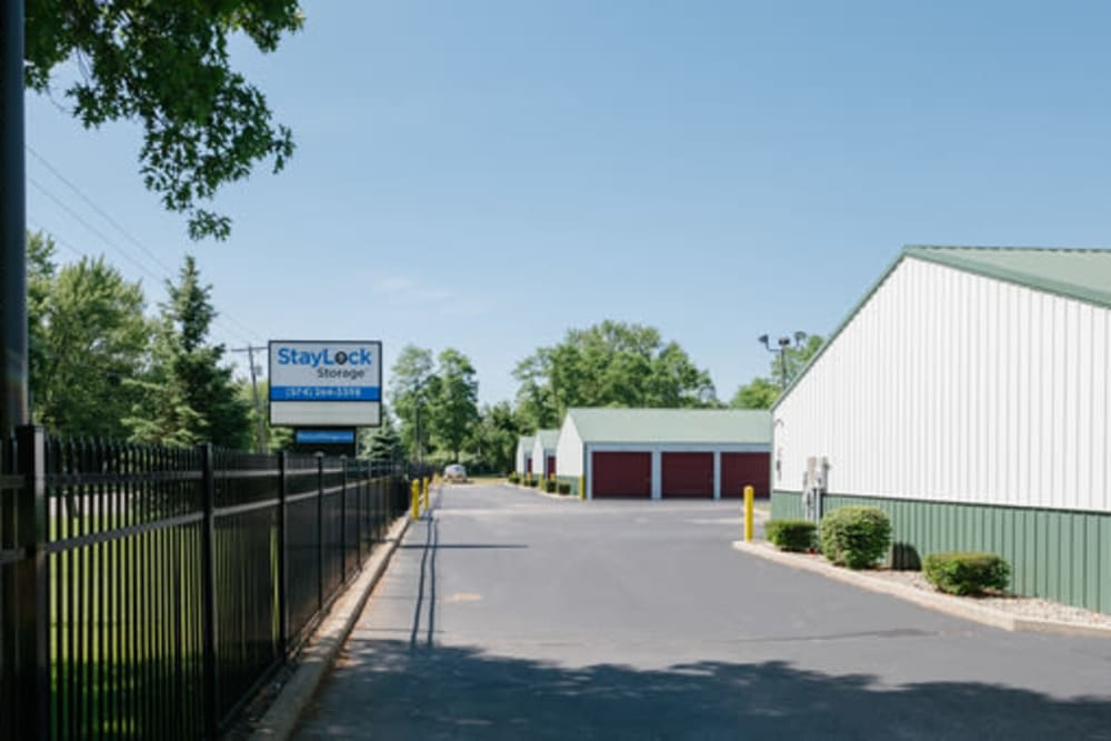 Entrance to our storage units at StayLock Storage in Elkhart, Indiana