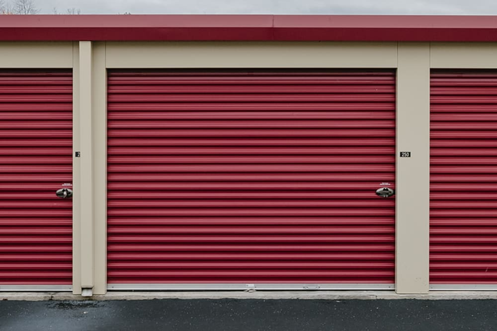 Roll-up doors on self storage units at StayLock Storage in Fort Wayne, Indiana