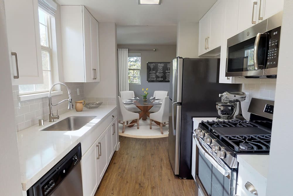 Demonstration kitchen for resident use in the clubhouse at Mission Hills in Camarillo, California