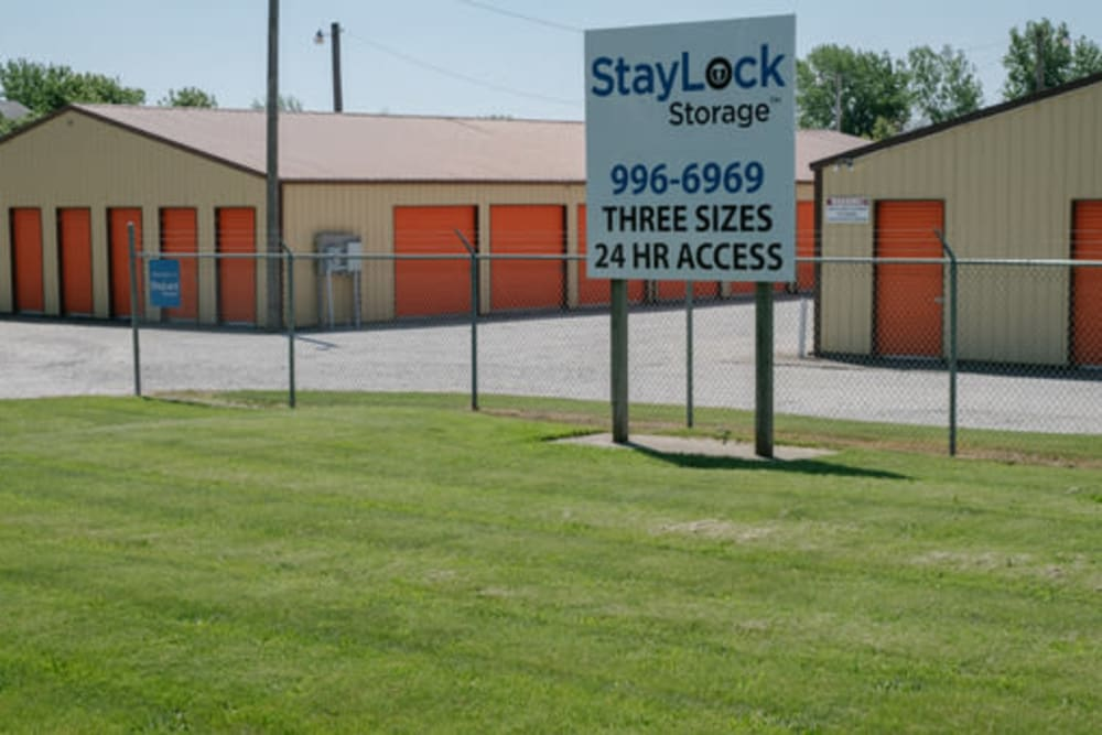 Entrance to our storage units at StayLock Storage in Kouts, Indiana