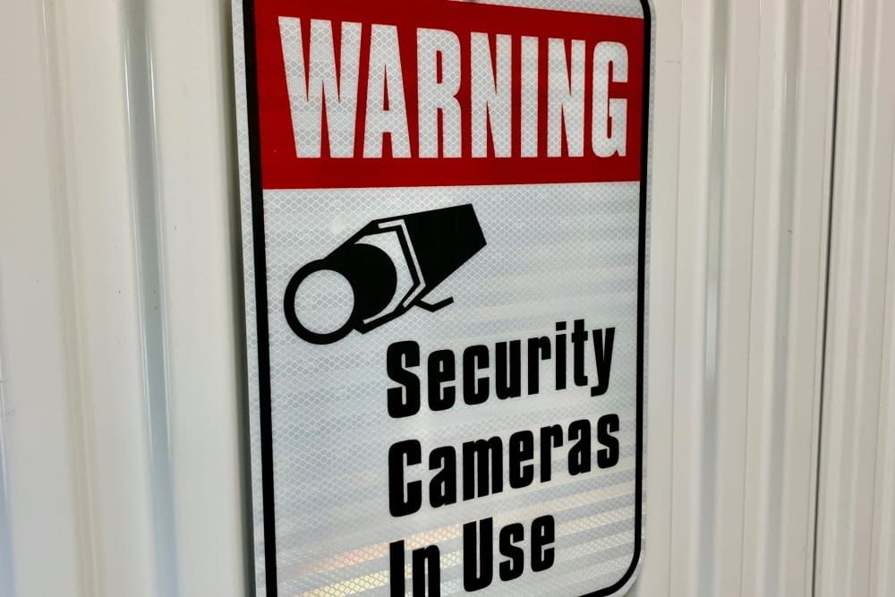 Security sign at Global Self Storage in Millbrook, NY